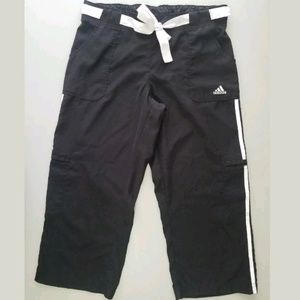 Adidas Cropped Capri Athletic Track Pants Medium